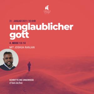 """Joshua predigt über """"unglaublicher Gott"""""""