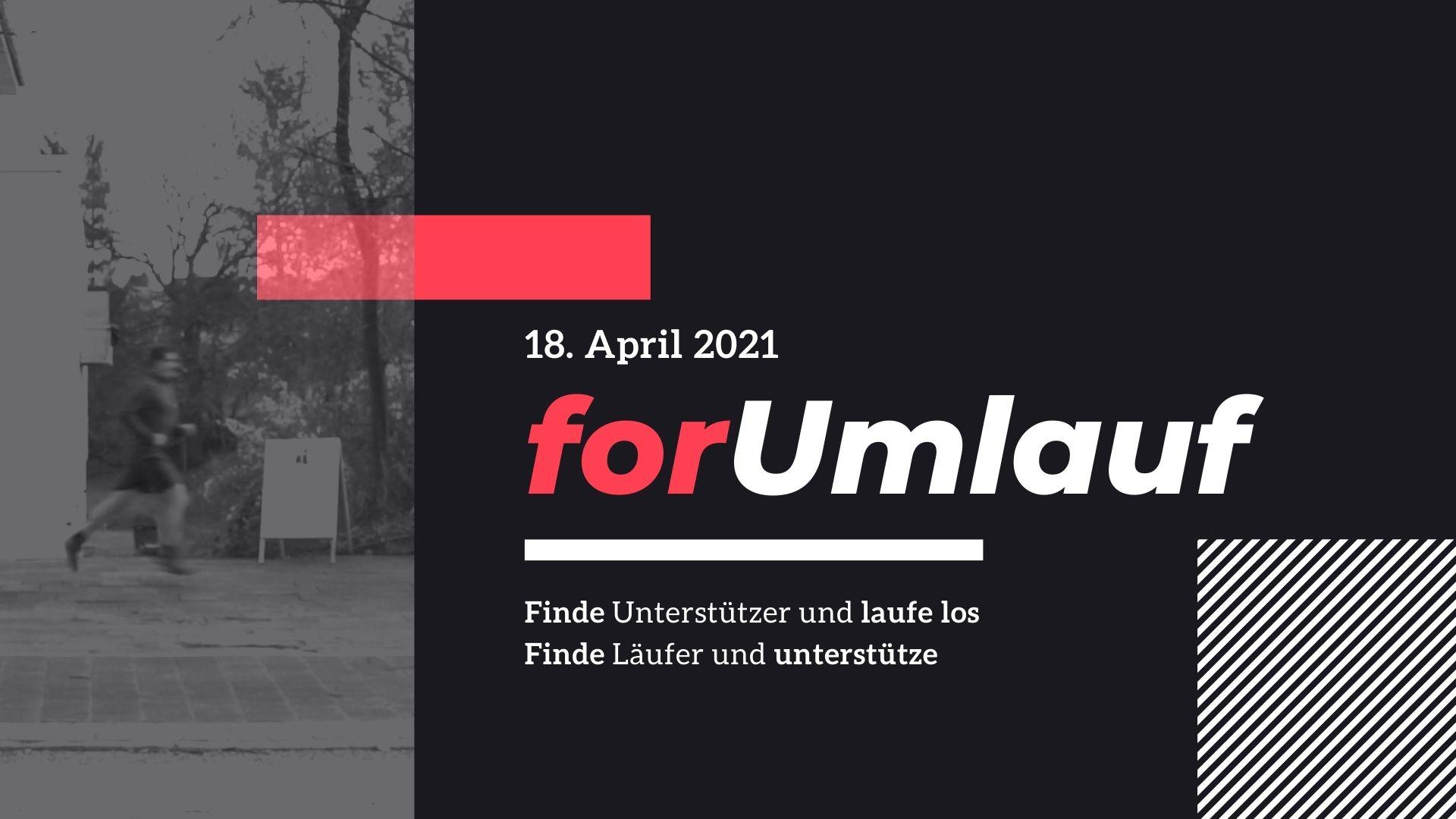 forUmlauf Spendenlauf am 18. April